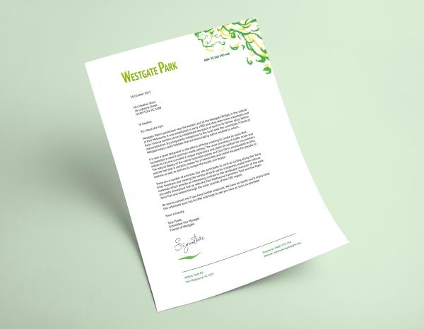 Westgate Park Concept-Letterhead